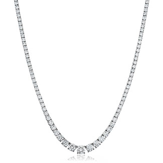 Graduating 14ct Diamond Necklace