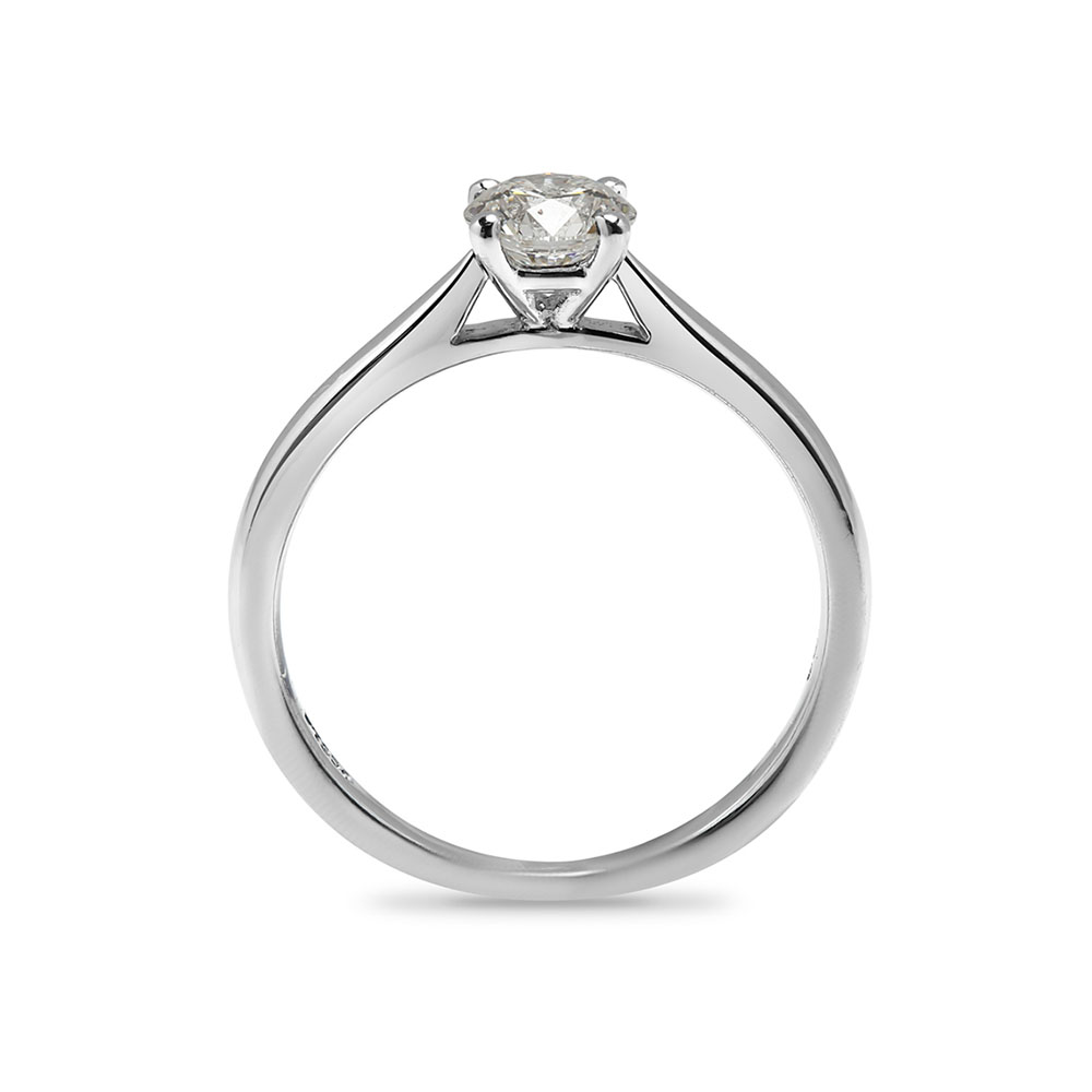 Round Solitaire 0.5ct D VS1 Lab Grown Diamond Engagement Ring