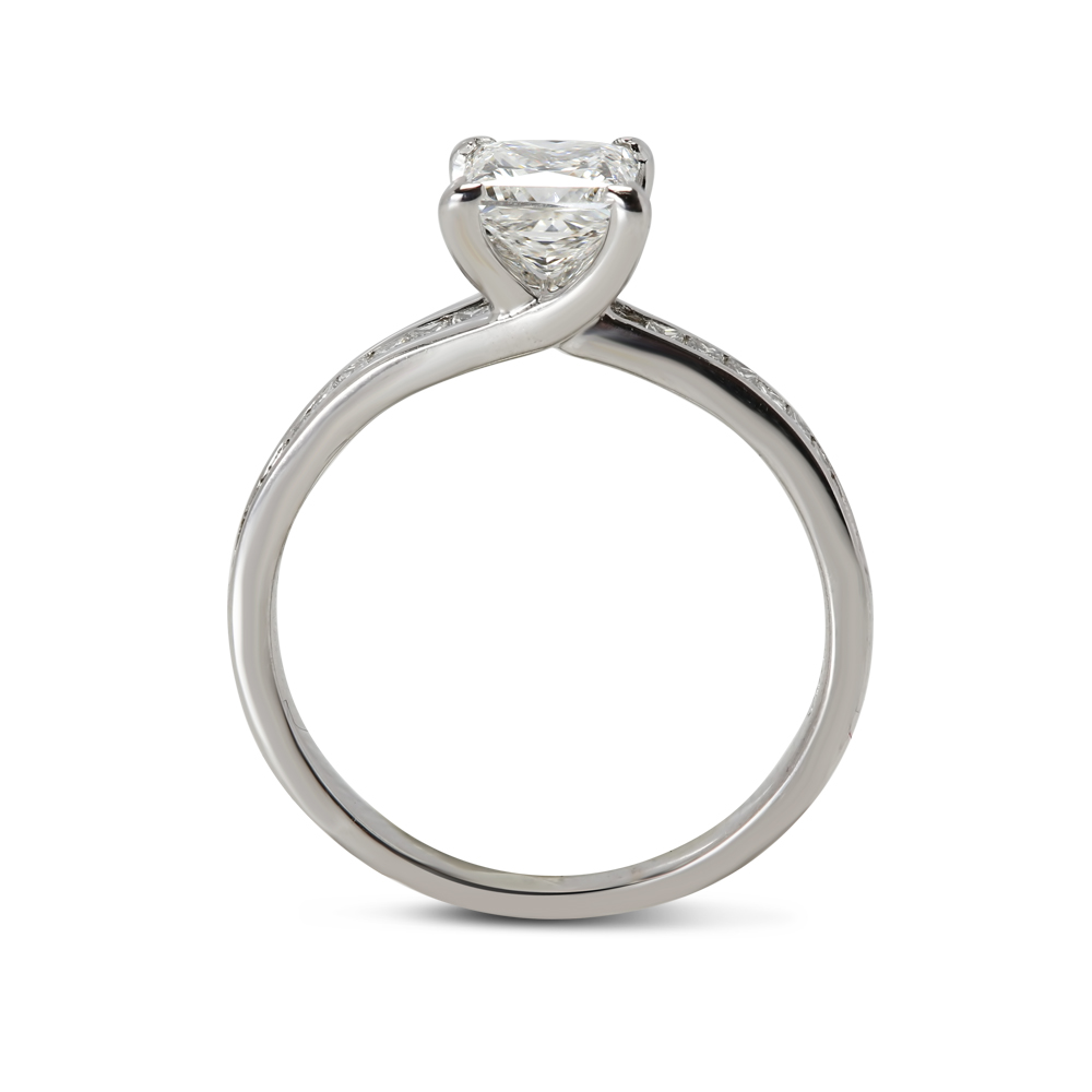 Princess Cut Lab Grown Diamond Engagement Ring