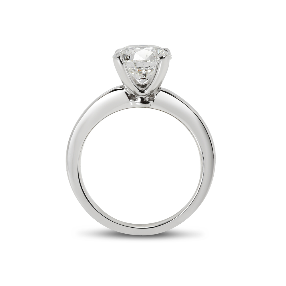 Straight Band Lab Grown Diamond Engagement Ring