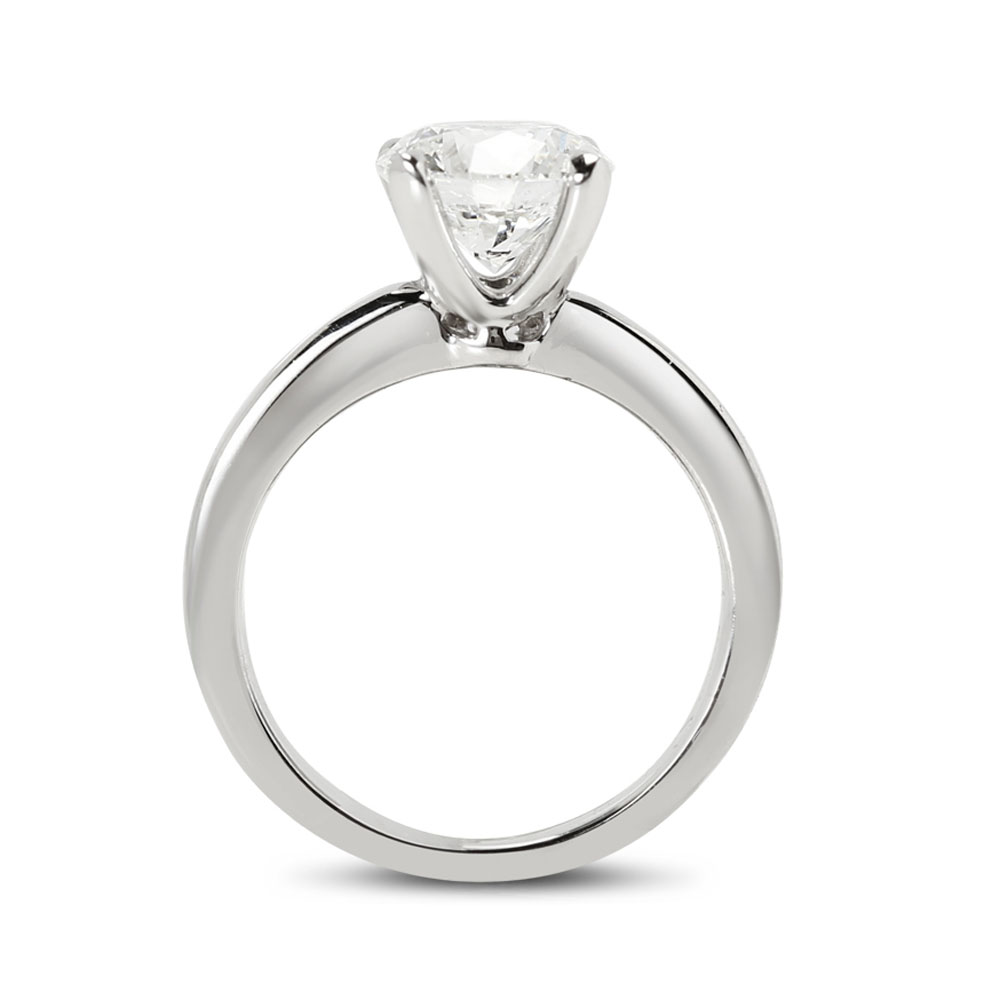 Straight Band Diamond Engagement Ring
