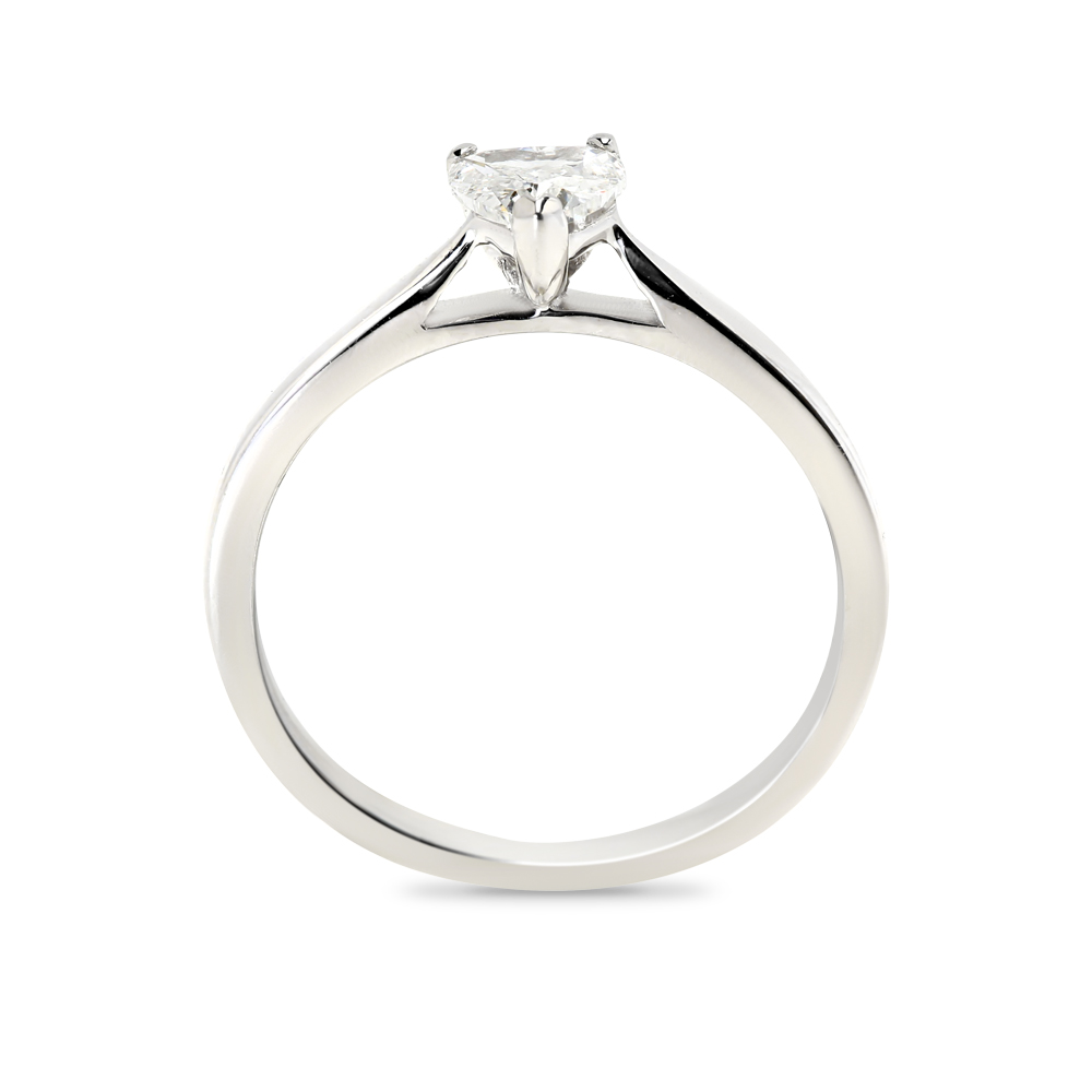 Heart Shape Solitaire Diamond Engagement Ring