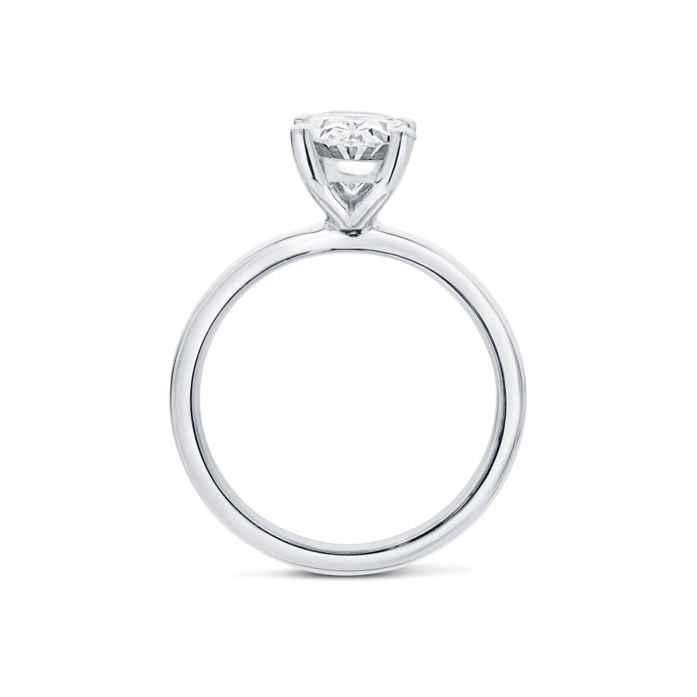High Setting Oval Solitaire Diamond Engagement Ring