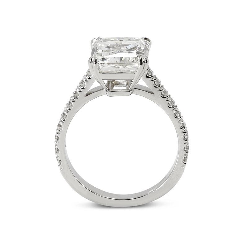 Large Radiant Cut Diamond Engagement Ring