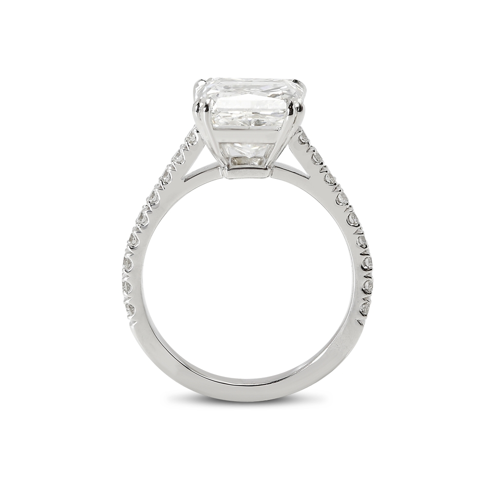 Large Radiant Cut Lab Grown Diamond Engagement Ring