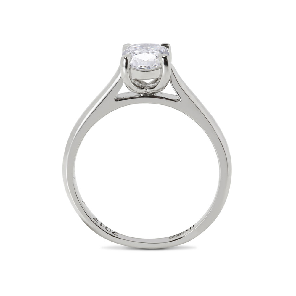 Cushion Cut Solitaire Diamond Engagement Ring