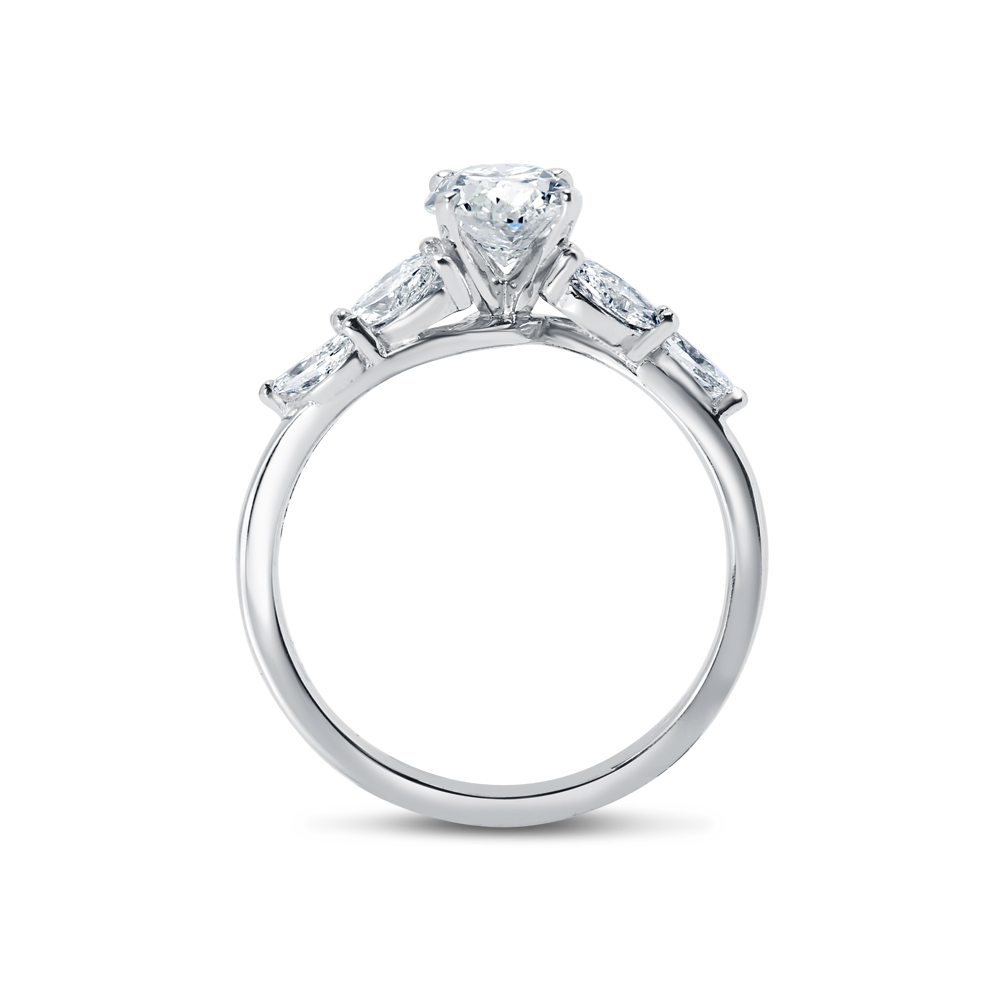 Oval and Marquise Side Diamond Engagement Ring