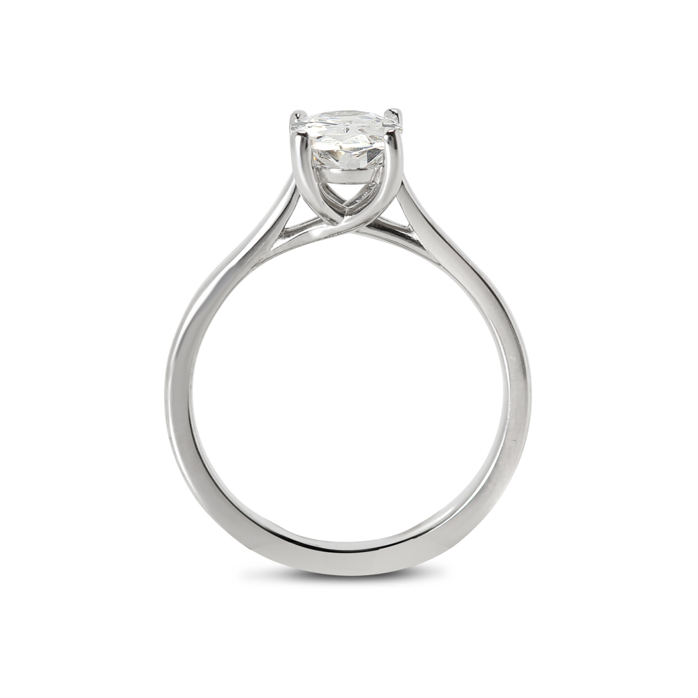 Oval Cut Lab Grown Diamond Solitaire Engagement Ring