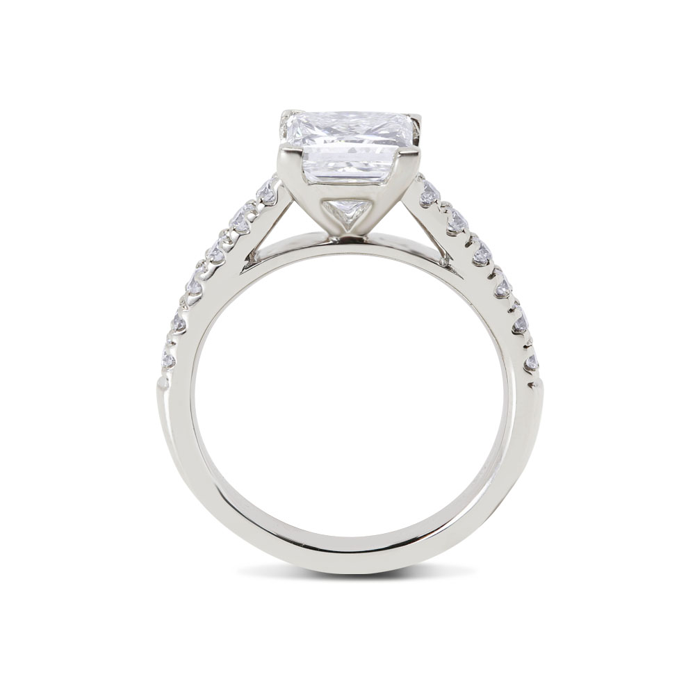 Princess Cut Contemporary Engagement Ring