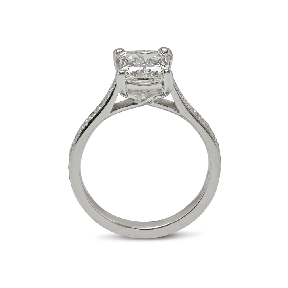 Radiant Cut Lab Grown Diamond Engagement Ring