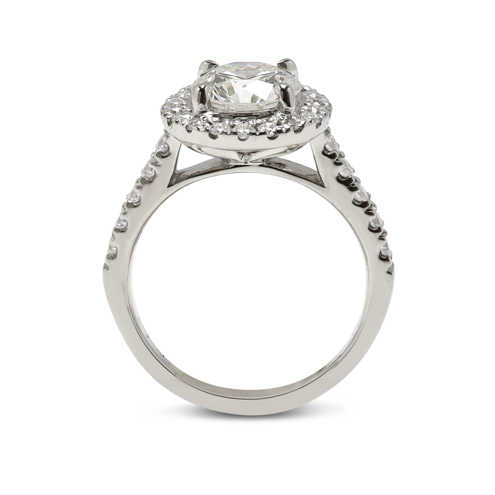 Halo Round Lab Grown Diamond Engagement Ring