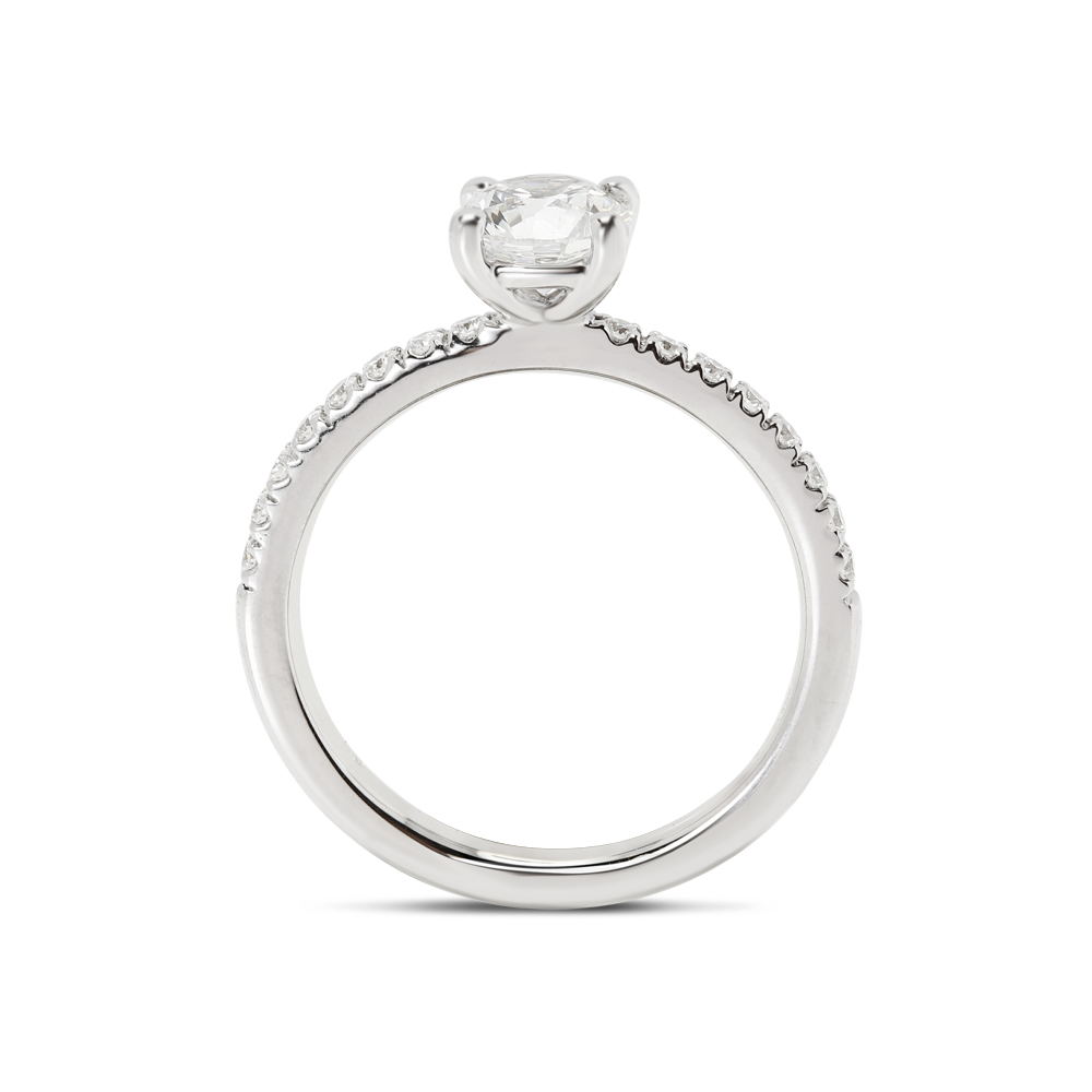 Round Cut High Setting Diamond Engagement Ring