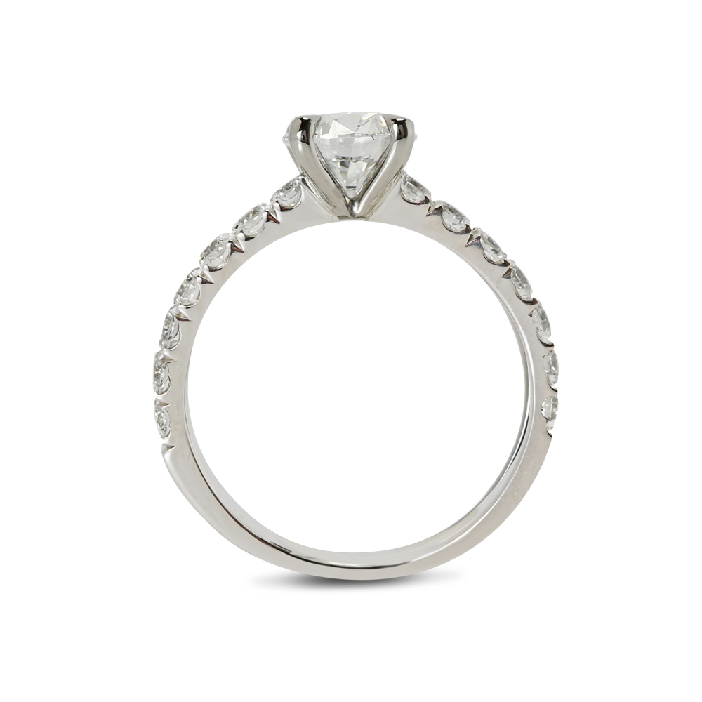 Micro Setting Solitaire Lab Grown Diamond Engagement Ring