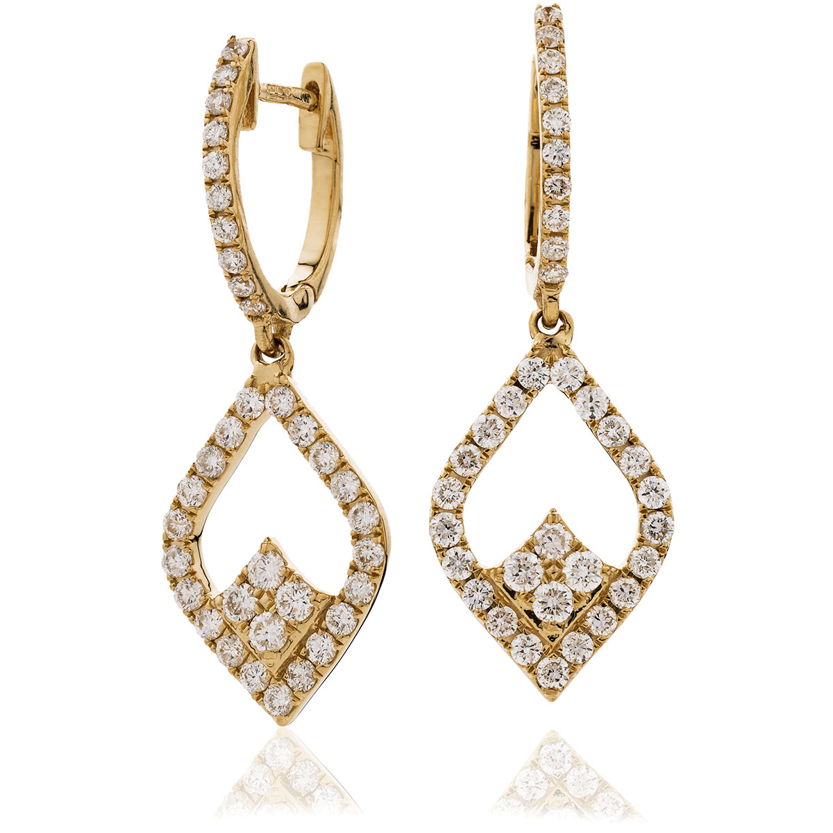 Trilogy Drop Hoops Diamond Earring