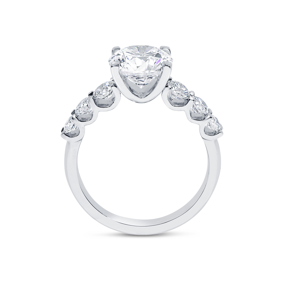 Seven Diamonds Engagement Ring