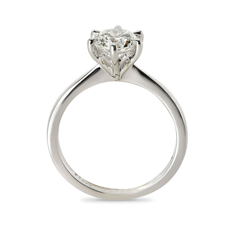Six Claw Solitaire Round Diamond Engagement Ring