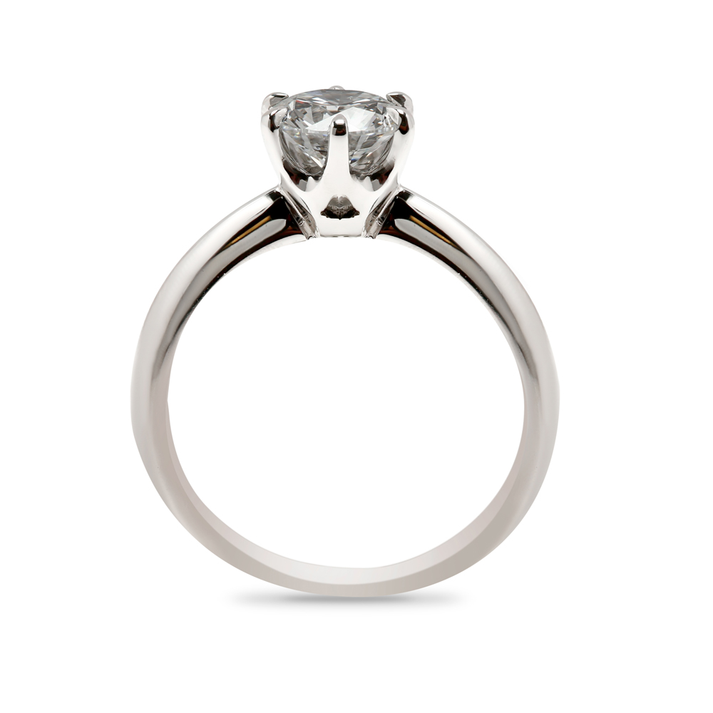Traditional Six Claw Solitaire Round Diamond Engagement Ring