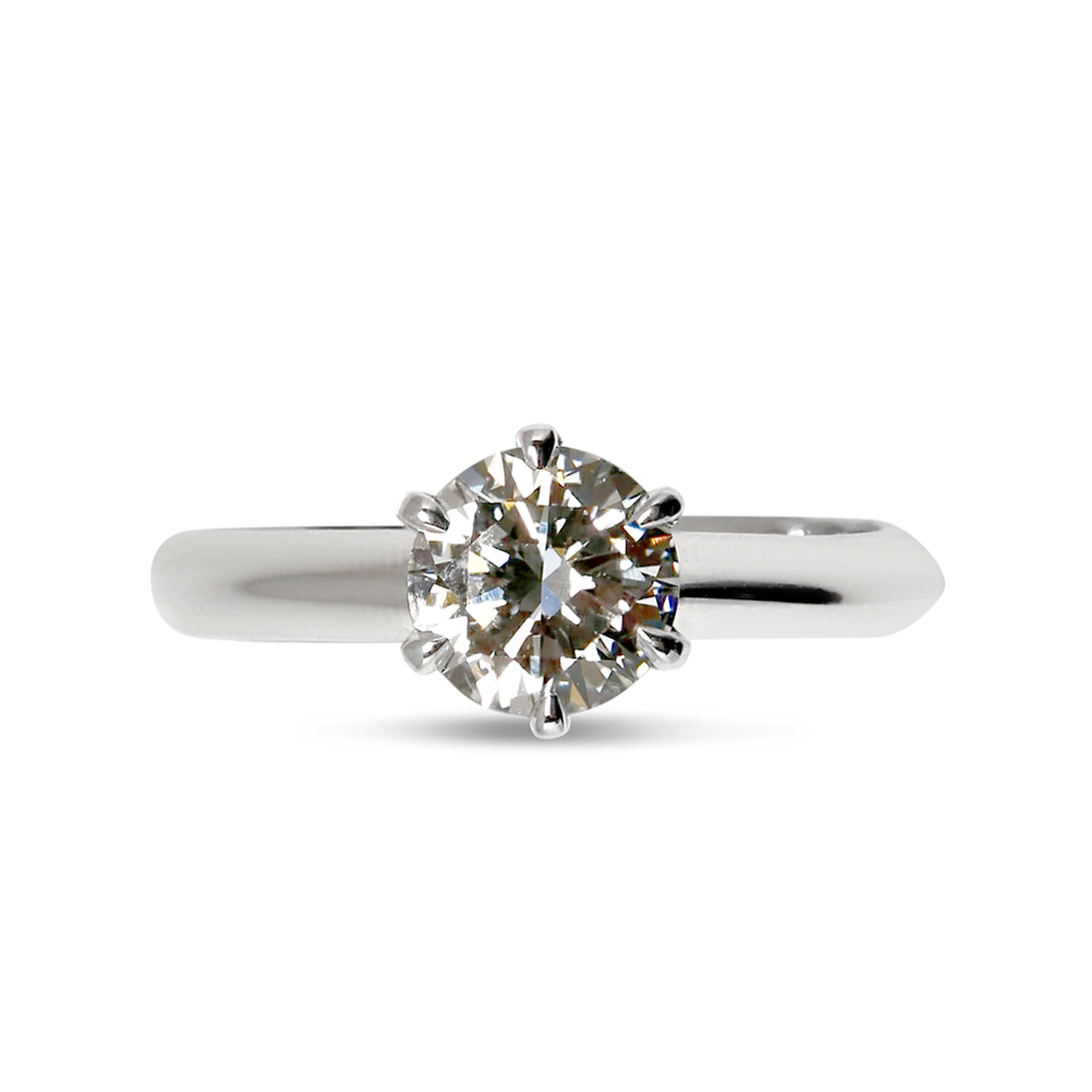 Six Claw Traditional Solitaire Diamond Engagement Ring