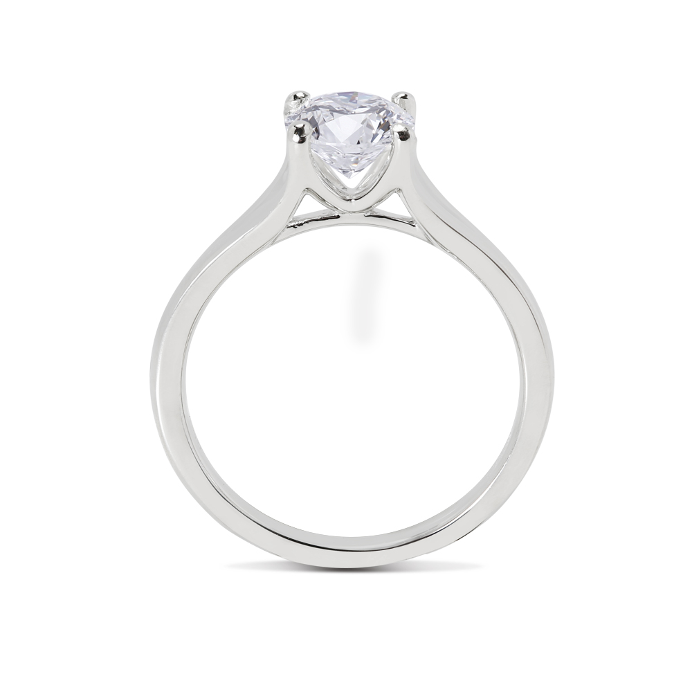 Split Shank Floating Round Solitaire Diamond Engagement Ring