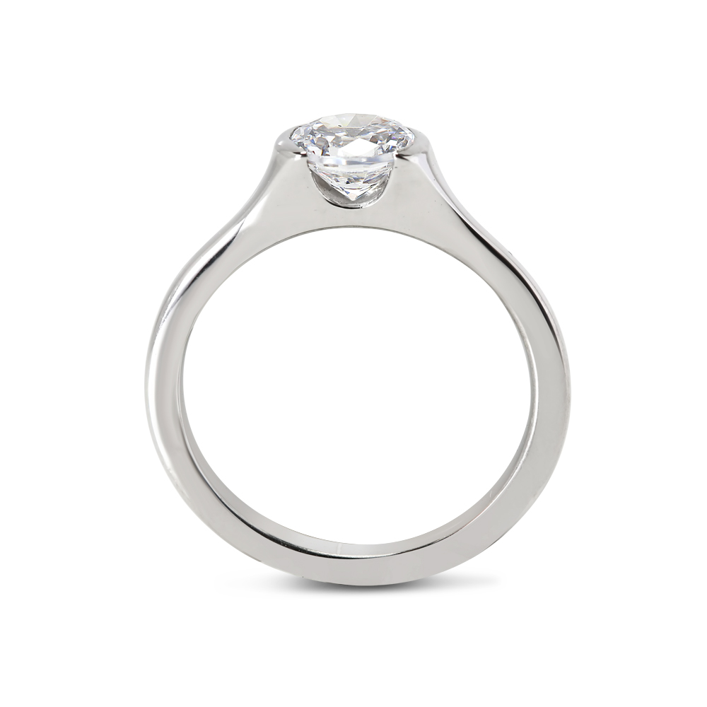 Tension Solitaire Diamond Engagement Ring