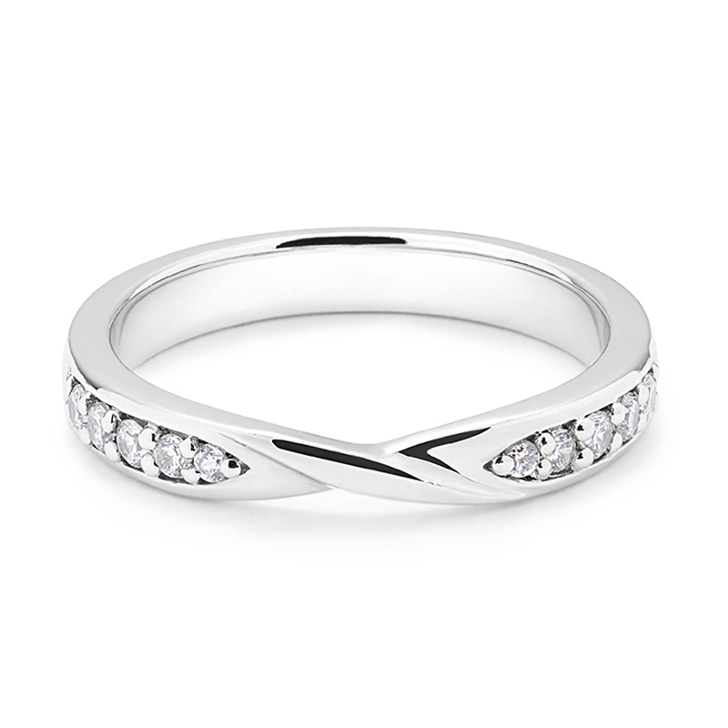 Twist Centre C Diamond Wedding Ring