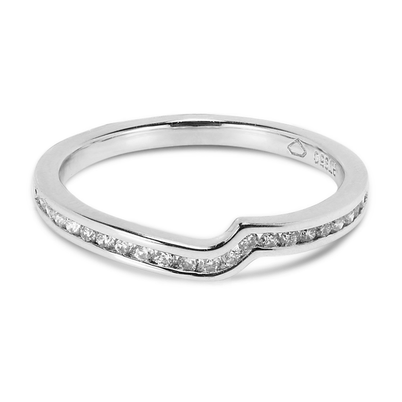 Twist  Channel Setting Diamond Wedding Ring
