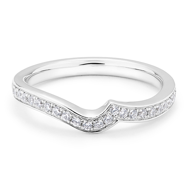 Twist Pave Setting Diamond Wedding Ring