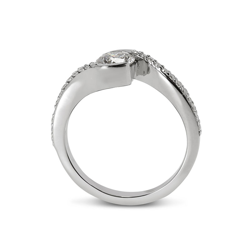 Twist Tension Diamond Engagement Ring
