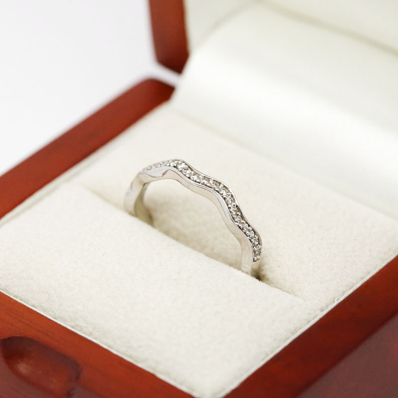 Wave Diamond Wedding Ring