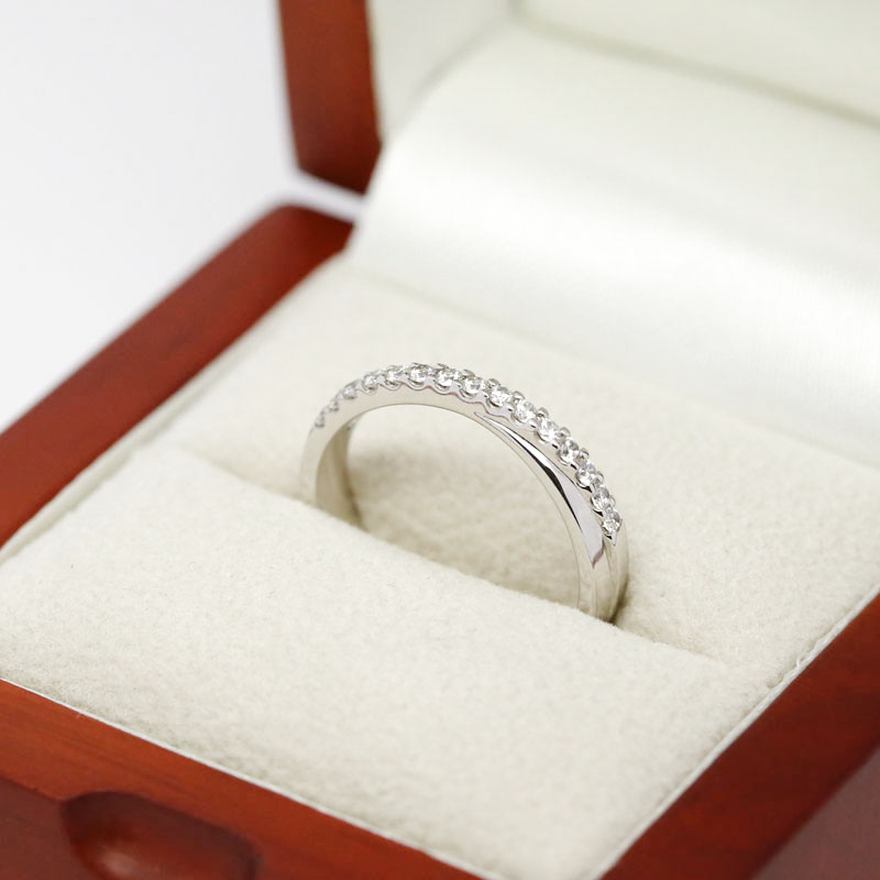 Cross Over Diamond Wedding Ring