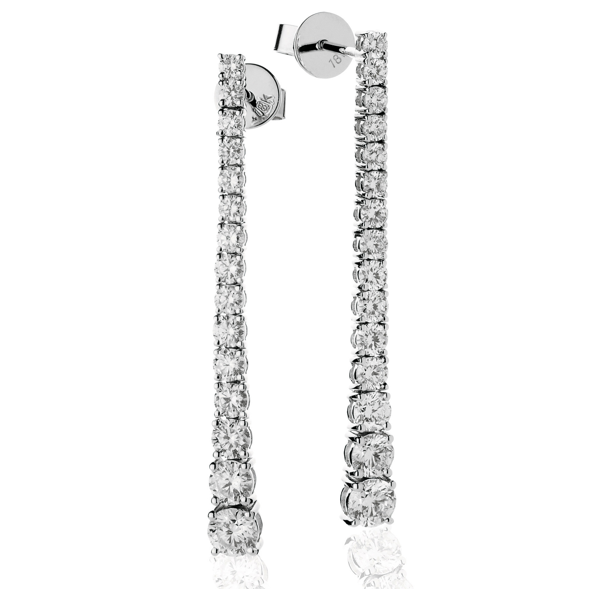 Graduating Diamond Drop Earrings