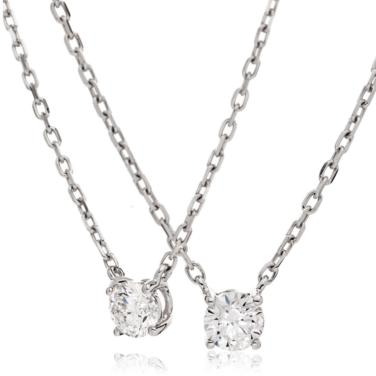 Fixed Claw Set Diamond Pendant