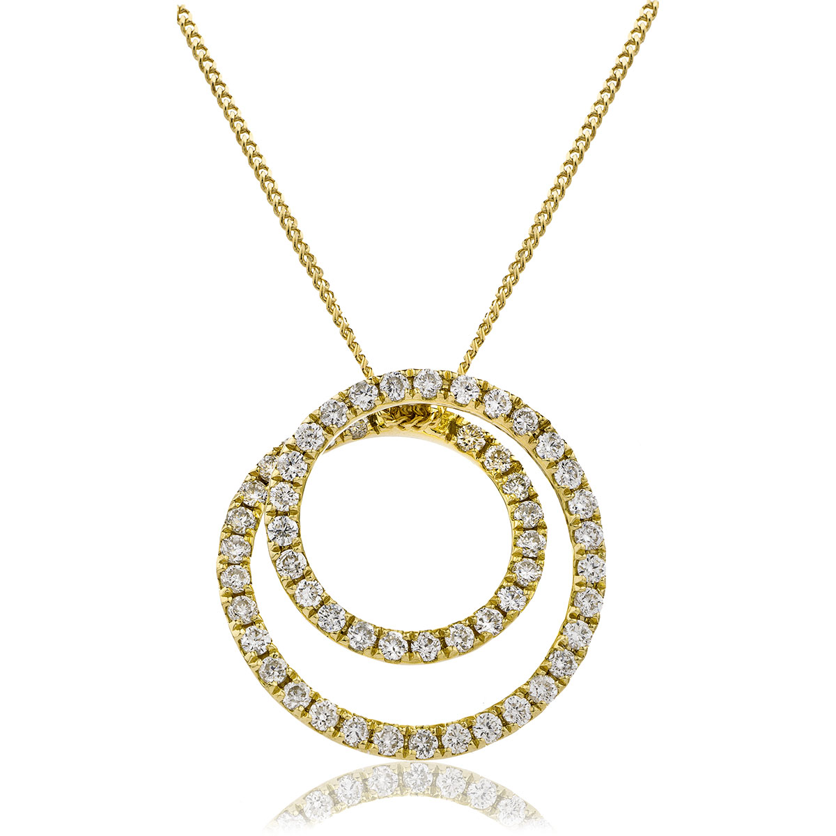 Pave Set Round Diamond Designer Pendant