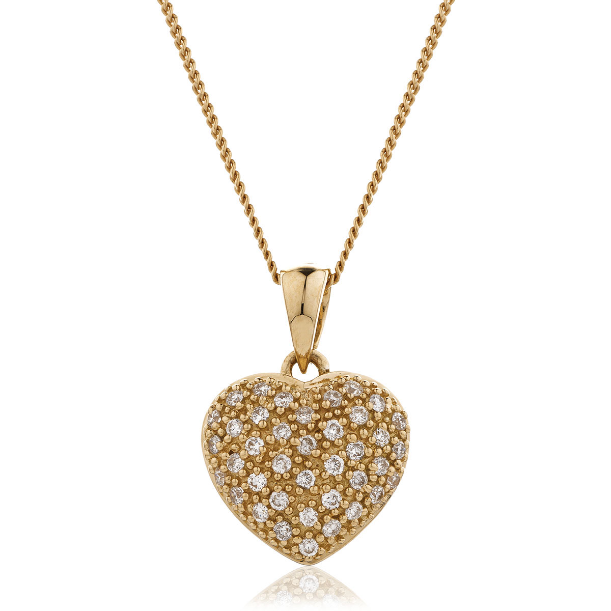0.20ct Classic Round Diamond Heart Pendant