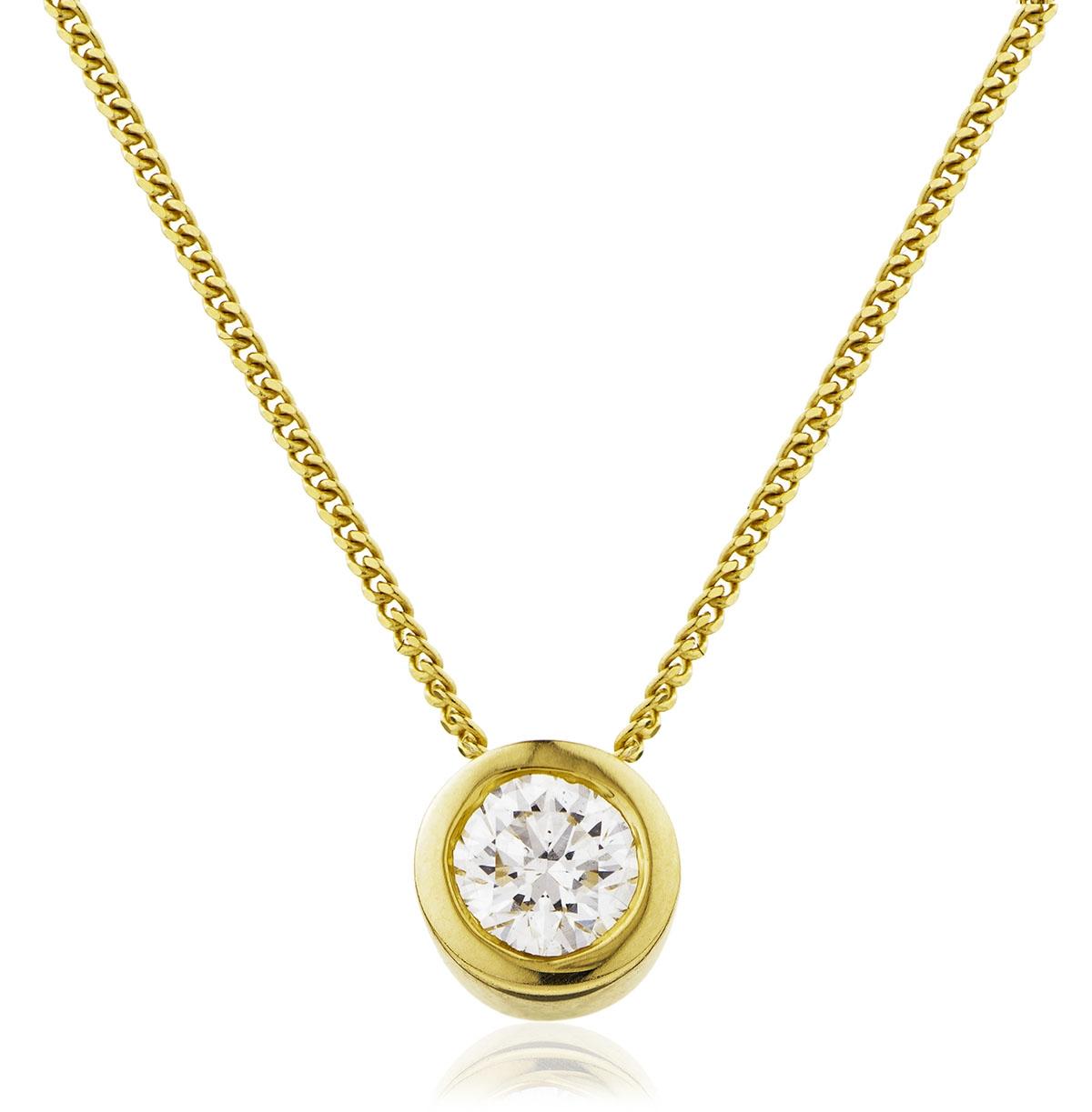 Rubover Diamond Pendant