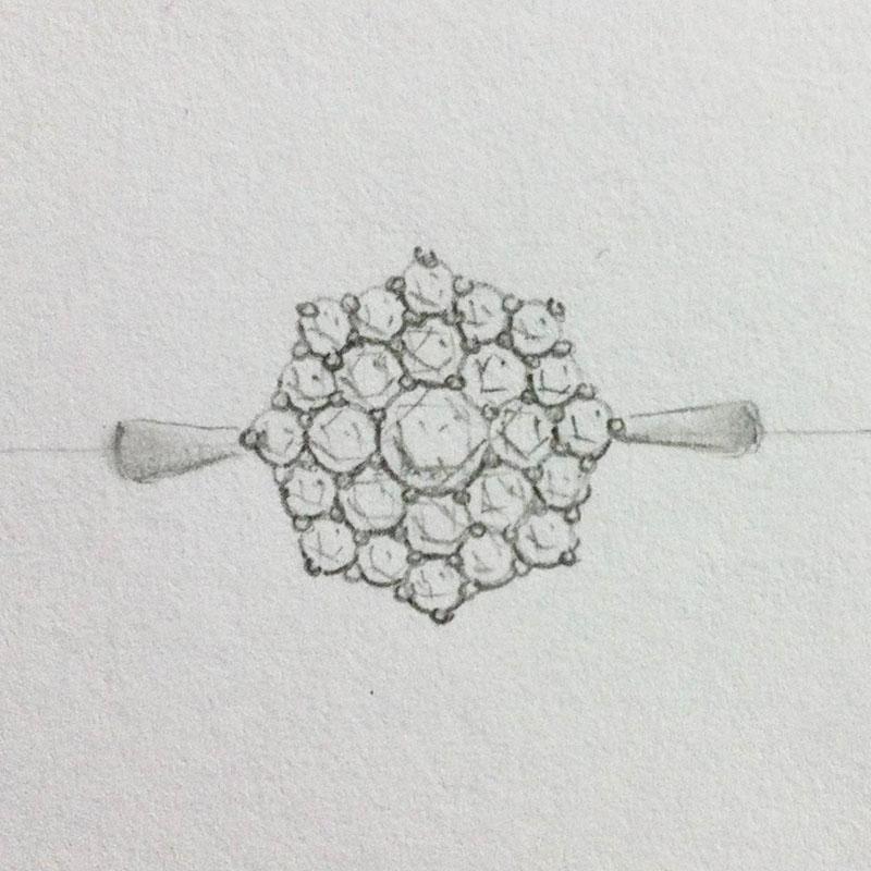 Cluster Diamond Ring Setting