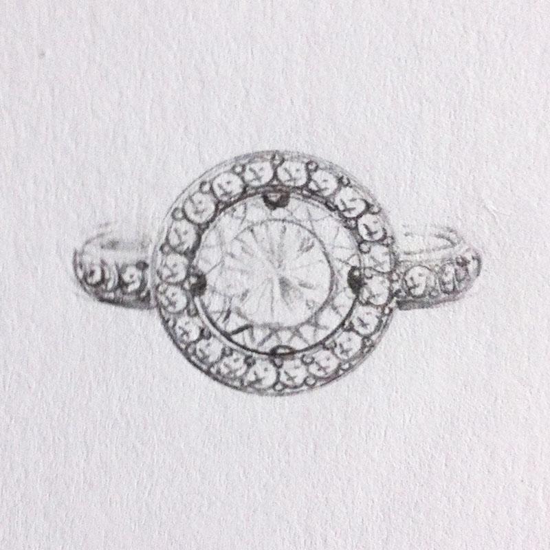 Halo Diamond Ring Setting
