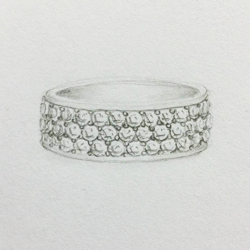 Pave Grain Set DIamond Setting