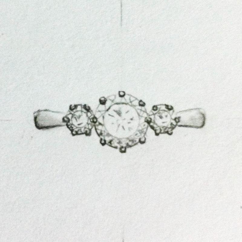 Side Stones Diamonds Setting